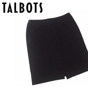 Talbots Black Professional Pencil Skirt Size (14)